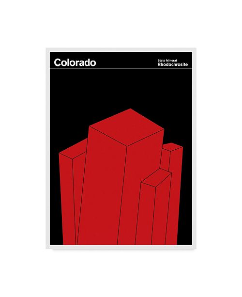 "Trademark Global Print Collection - Artist 'Colorado Mineral' Canvas Art - 24"" x 32"""