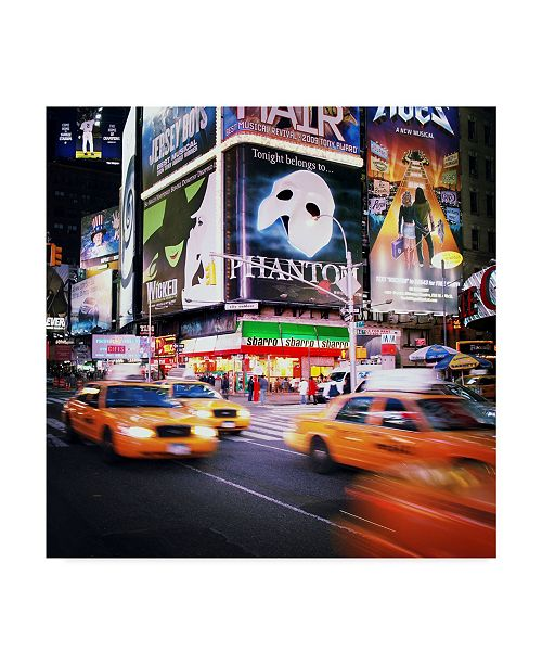 "Trademark Global Nina Papiorek 'NYC Taxi Taxi' Canvas Art - 35"" x 35"""