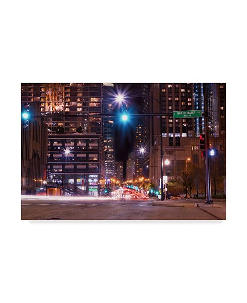 "Trademark Global Njr Photos 'Night Rush' Canvas Art - 32"" x 22"""