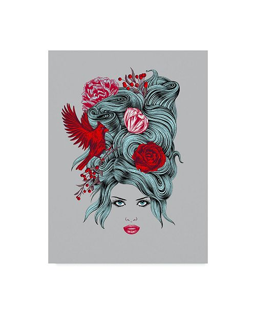 "Trademark Global Rachel Caldwell 'Winter Queen Illustration' Canvas Art - 24"" x 32"""