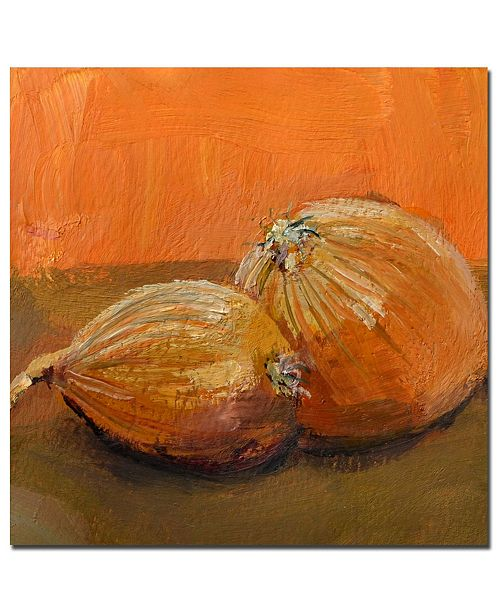 "Trademark Global Michelle Calkins 'Yellow Onions' Canvas Art - 24"" x 24"""