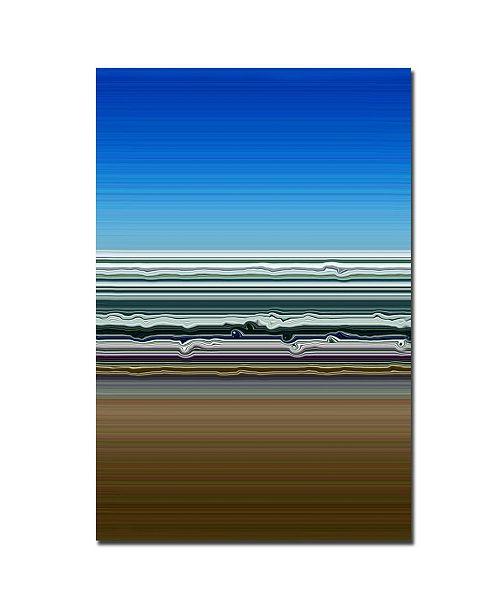 "Trademark Global Michelle Calkins 'Sky Water Sand' Canvas Art - 24"" x 16"""