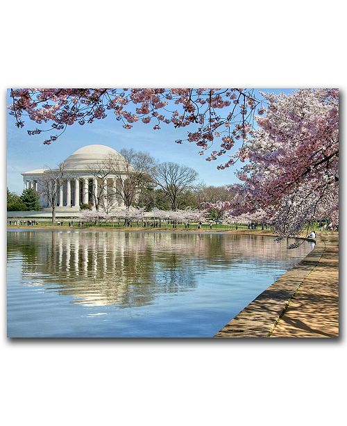 "Trademark Global Jefferson Memorial by CATeyes Canvas Art - 32"" x 26"""