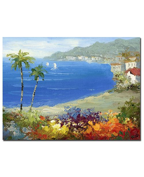 "Trademark Global Rio 'Mediterranean Beach' Canvas Art - 32"" x 26"""