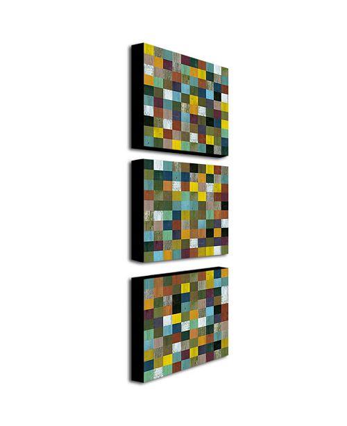 "Trademark Global Michelle Calkins 'Rustic Wood' Canvas Art Set - 24"" x 24"""