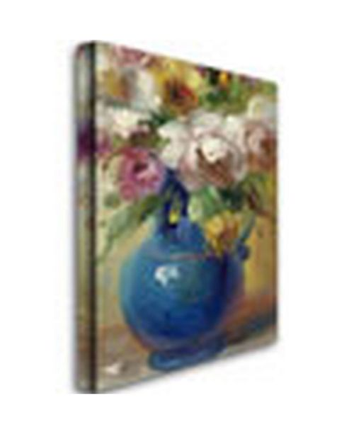 """Trademark Global Rio 'Flowers in a Blue Vase' Canvas Art - 47"""" x 35"""""""