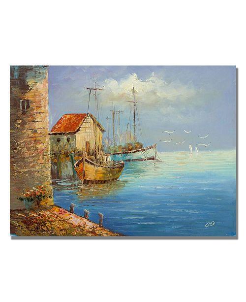 "Trademark Global Rio 'Fishing Wharf' Canvas Art - 47"" x 35"""