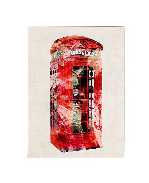 "Trademark Global Michael Tompsett 'Telephone Box' Canvas Art - 24"" x 18"""