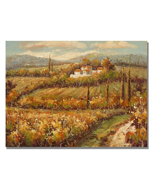 "Trademark Global Rio 'Hillside Cottage' Canvas Art - 24"" x 18"""
