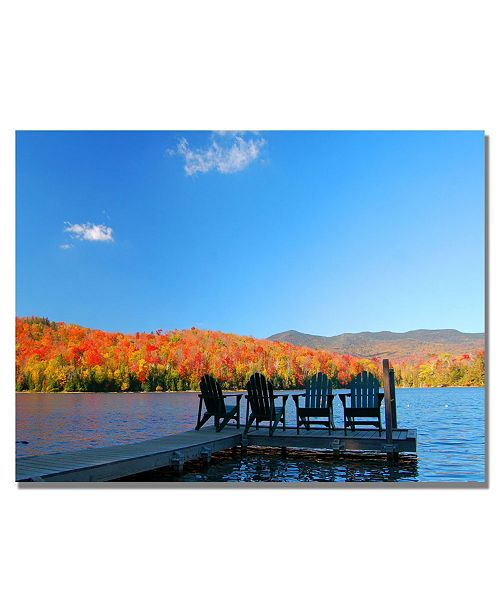 "Trademark Global Nicole Dietz 'The Adirondack Viewpoint' Canvas Art - 32"" x 22"""