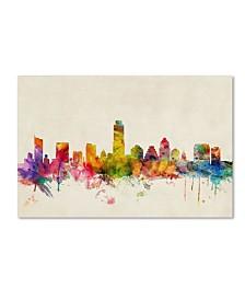 """Michael Tompsett 'Austin, Texas' Canvas Art - 32"""" x 22"""""""
