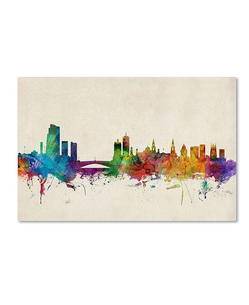 "Trademark Global Michael Tompsett 'Leeds England Skyline III' Canvas Art - 47"" x 30"""
