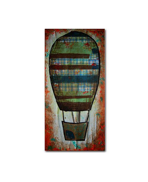 """Trademark Global Nicole Dietz 'Hot Air Ballon Plaid' Canvas Art - 47"""" x 24"""""""