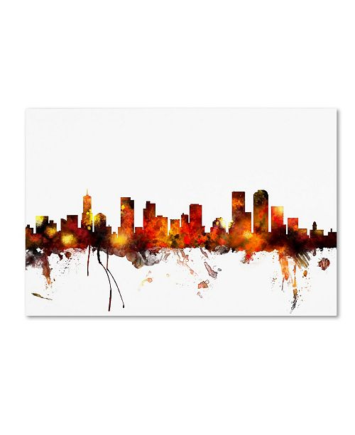 "Trademark Global Michael Tompsett 'Denver Colorado Skyline II' Canvas Art - 30"" x 47"""