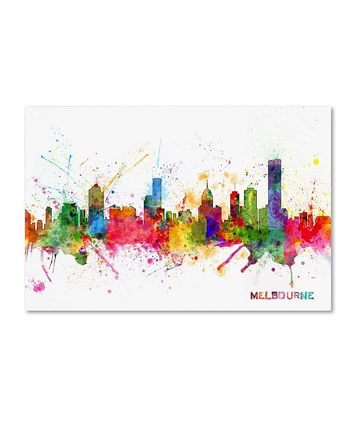 "Trademark Global Michael Tompsett 'Melbourne Skyline' Canvas Art - 22"" x 32"""