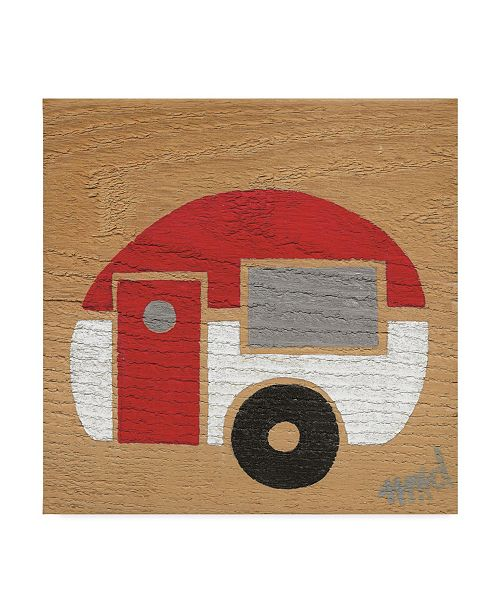 "Trademark Global Nicole Dietz 'Red and White Camp' Canvas Art - 14"" x 14"""