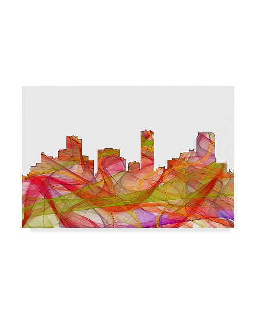 "Trademark Global Marlene Watson 'Denver Colorado Skyline' Canvas Art - 12"" x 19"""