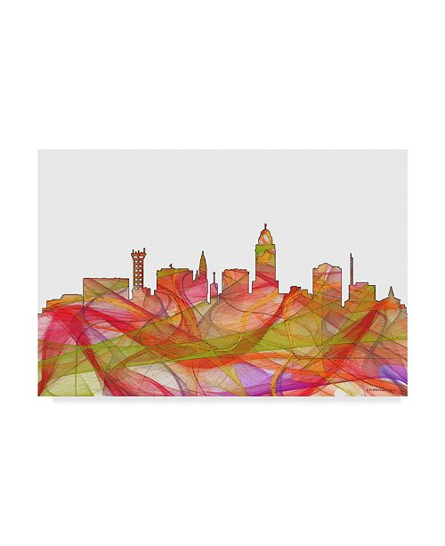 "Trademark Global Marlene Watson 'Lincoln Nebraska Skyline' Canvas Art - 12"" x 19"""