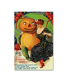 """Vintage Apple Collection 'Halloween Red Head Band' Canvas Art - 12"""" x 19"""""""