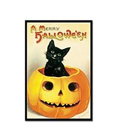 "Vintage Apple Collection 'Merry Halloween' Canvas Art - 12"" x 19"""