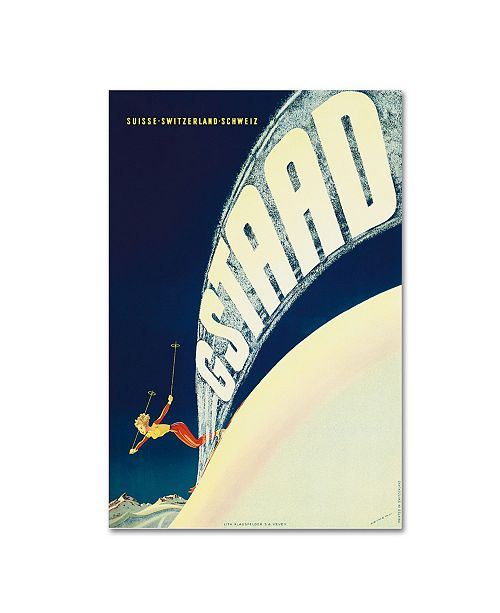 """Trademark Global Vintage Apple Collection 'Gstaad' Canvas Art - 12"""" x 19"""""""