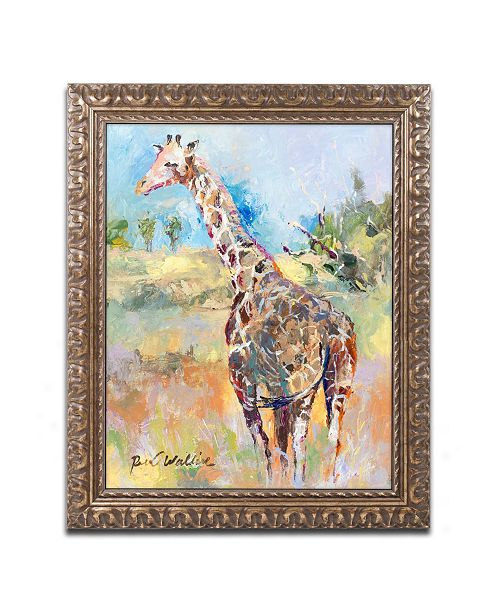 "Trademark Global Richard Wallich 'Giraffe' Ornate Framed Art - 11"" x 14"""