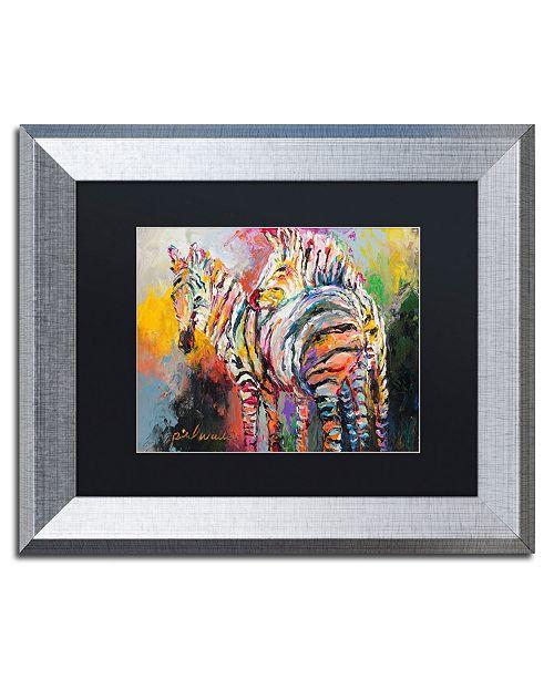 """Trademark Global Richard Wallich 'Zebras' Matted Framed Art - 11"""" x 14"""""""