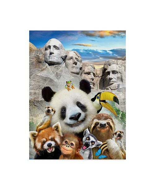 "Trademark Global Howard Robinson 'Mount Rushmore' Canvas Art - 14"" x 19"""