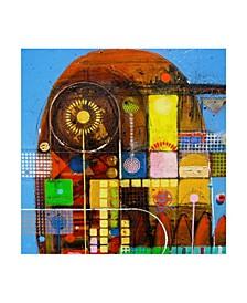 """David Spencer 'Carla's Garden' Canvas Art - 14"""" x 14"""""""