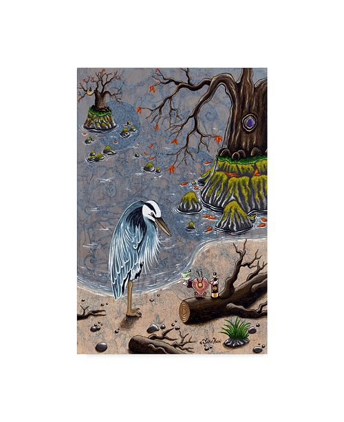 "Trademark Global Jake Hose 'A Toast To The Heron' Canvas Art - 12"" x 19"""