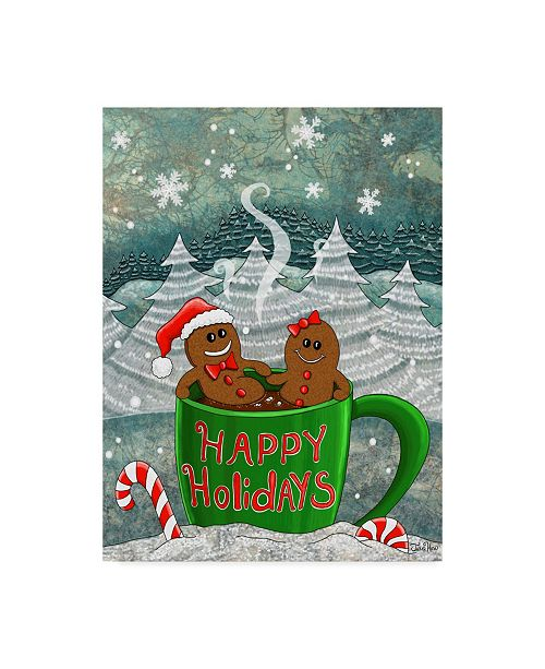"Trademark Global Jake Hose 'Hot Cocoa And Gingerbread' Canvas Art - 14"" x 19"""