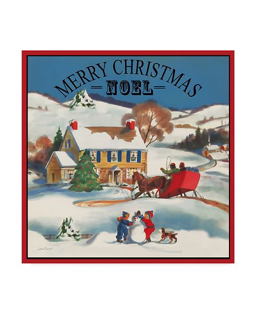 """Trademark Global Jean Plout 'Merry Christmas' Canvas Art - 14"""" x 14"""""""
