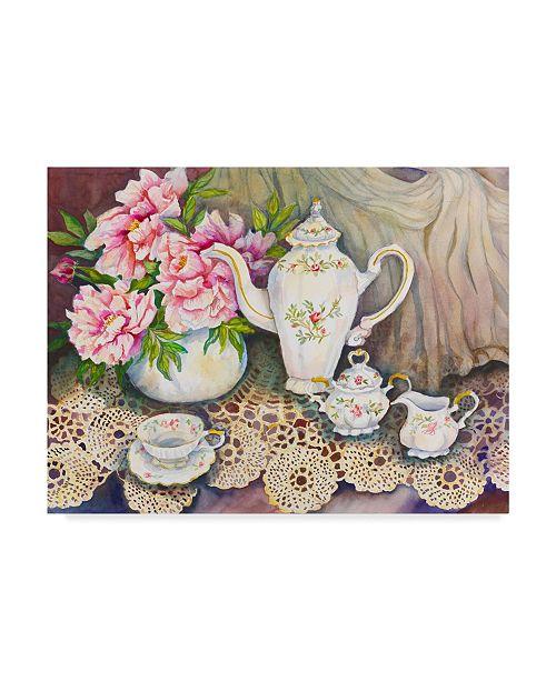 "Trademark Global Joanne Porter 'Tea Time Pink' Canvas Art - 14"" x 19"""