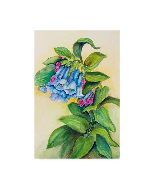 "Trademark Global Joanne Porter 'Blue Bells' Canvas Art - 12"" x 19"""