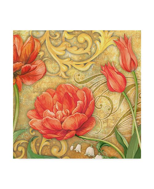 "Trademark Global Maria Rytova 'Red Tulips 1' Canvas Art - 14"" x 14"""