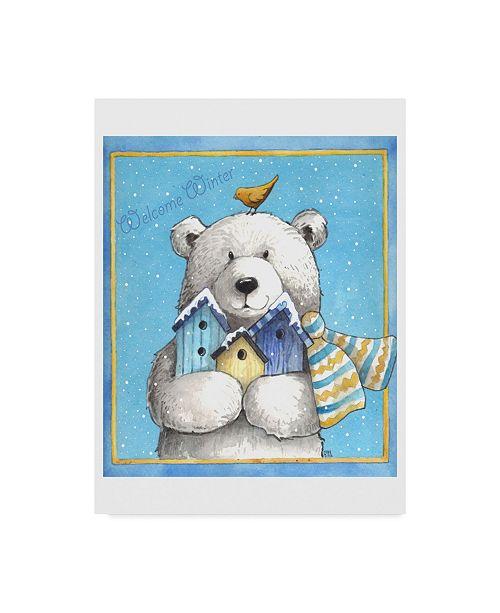 "Trademark Global Melinda Hipsher 'Polar Bear Welcome' Canvas Art - 14"" x 19"""