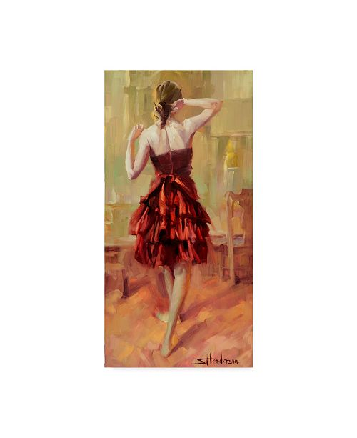 "Trademark Global Steve Henderson 'Girl In A Copper Dress' Canvas Art - 12"" x 24"""