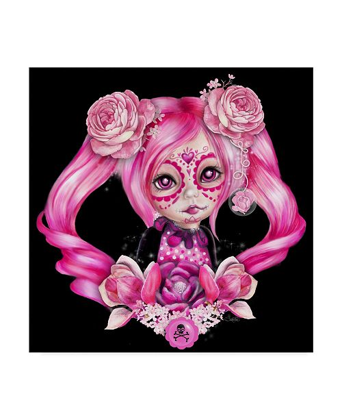 "Trademark Global Sheena Pike Art And Illustration 'Sugar Sweeties' Canvas Art - 14"" x 14"""