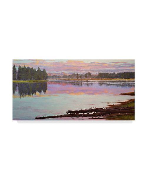 "Trademark Global Rusty Frentner 'Sunset Lake' Canvas Art - 12"" x 24"""