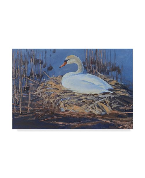 "Trademark Global Rusty Frentner 'The Swan' Canvas Art - 12"" x 19"""
