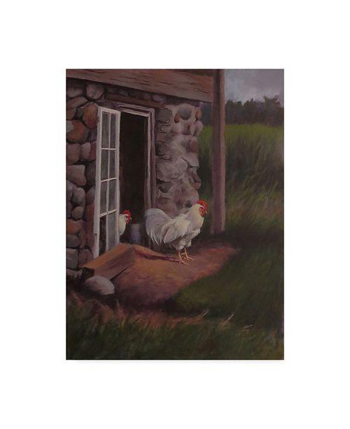 "Trademark Global Rusty Frentner 'Top Rooster' Canvas Art - 14"" x 19"""