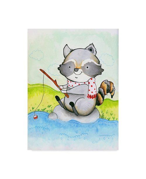 "Trademark Global Valarie Wade 'Gone Fishing' Canvas Art - 14"" x 19"""