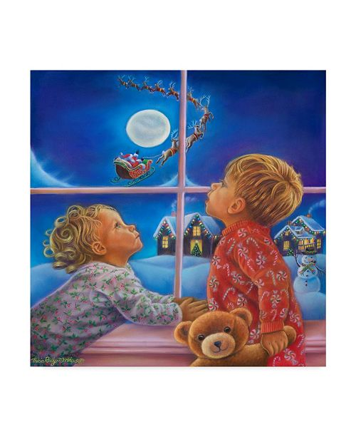 "Trademark Global Tricia Reilly-Matthews 'Believe In The Magic Of Christmas' Canvas Art - 14"" x 14"""