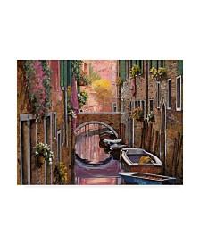 """Guido Borelli 'La Mimosa a Venezia' Canvas Art - 14"""" x 19"""""""