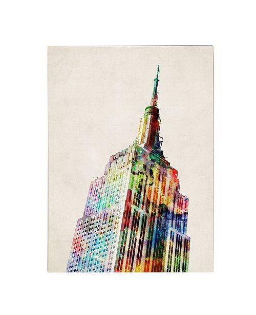 "Trademark Global Michael Tompsett 'Empire State' Canvas Art - 14"" x 19"""