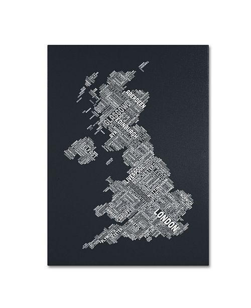 "Trademark Global Michael Tompsett 'United Kingdom V' Canvas Art - 14"" x 19"""