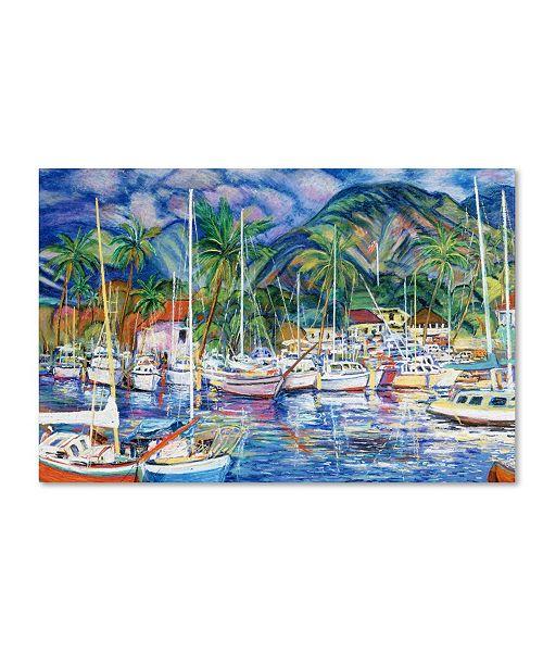 """Trademark Global Manor Shadian 'Lahaina Marina' Canvas Art - 14"""" x 19"""""""