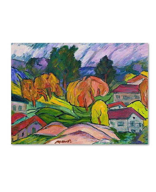 "Trademark Global Manor Shadian 'Haiku' Canvas Art - 14"" x 19"""