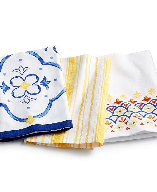 La Dolce Vita Kitchen Towels Set Of 3 Created For Macy S