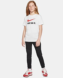 Nike Big Girls Futura Logo Cotton T-Shirt